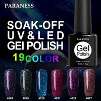 Paraness 3D Lucky Shiny Neon Rainbow Nails UV Gel Nail Polish Long-lasting Primer Gel Varnish Professional Nail Art Design