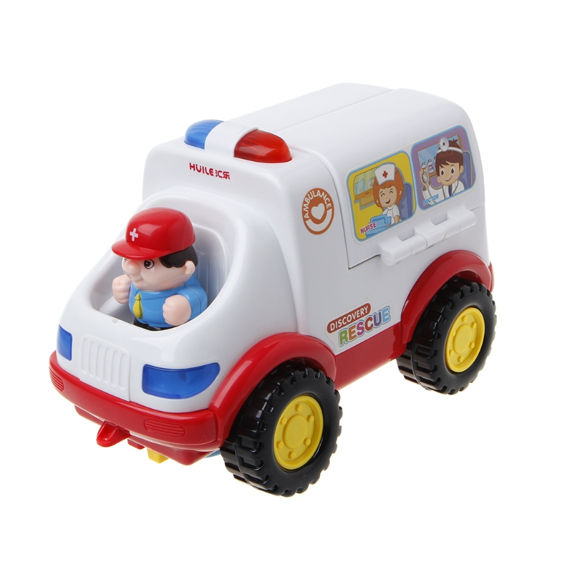 Toy Ambulance Doctor Vehicle Set Lights Music Car Electric Educational For Kids