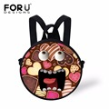 FORUDESIGNS New Cute Emoji Printing School Backpacks For Kindergarten Kids Round Small Baby Girls School Bags Boys Mini Mochila