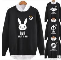 The Game OW D VA Mei Tracer Hanzou Bleach Soldier 76 Hoodie Unisex The Spring And