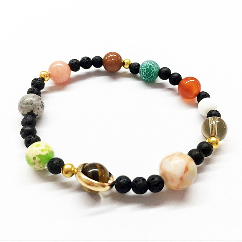 Universe Planets Beads Bangles & Bracelets Fashion Jewelry Natural Solar System Energy Bracelet For Women Or Men 2019