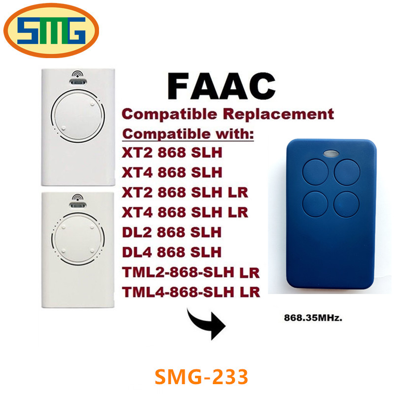 Scimagic Free Shipping Clone Faac XT2 868SLHLR 2-Channel Remote Control 868 MHz