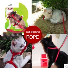New 2015 Pet products cat supplies cat collars pet harness for cat shape design chain traction belt cat rope