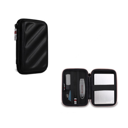 BUBM Portable EVA Hard Drive Case Electronics Accessories Travel Organizer Digital Hand bag S Black ...