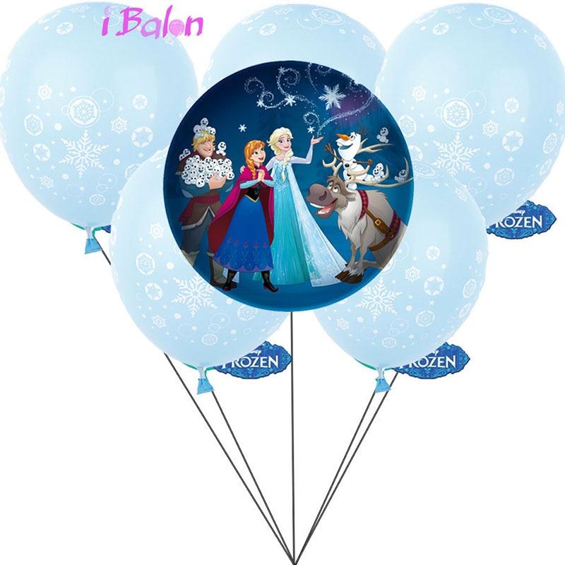 7pcs/set Cartoon Princess Foil Balloons Elsa Anna Snow Queen Inflatable Helium Globo Baby Shower Birthday Party Decorations Ball