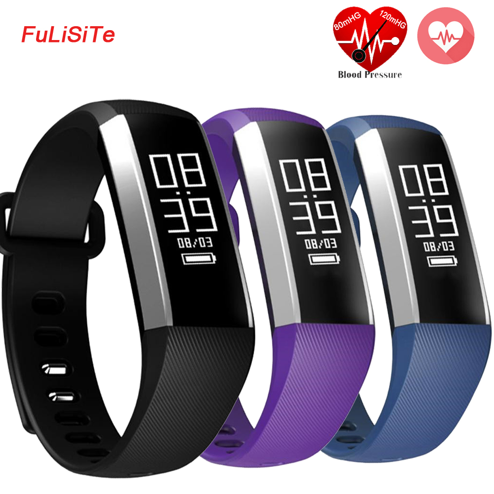 R5 Pro Blood Pressure Monitor Bracelet Smart Band Clock Vibration Heart Rate Wristband Fitness Tracker Smart