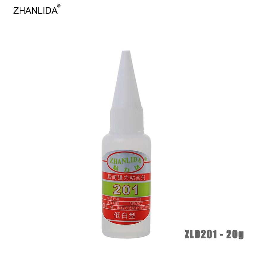 ZHANLIDA 201 20g Instant Quick Dry Glue Glass Rubber Metal Ceramic Wood Liquid Repair Glue