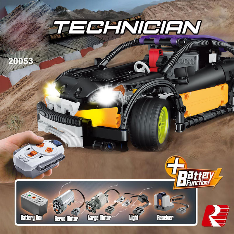 Technican Technics Radio Remote Control Hatchback Super Sport Car Ford Focus Rs Moc Building Block Model Brick Rc Toy Collection In Blocks From Toys