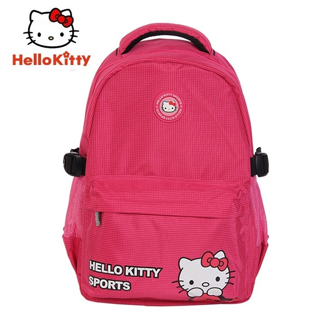 b306fdd90672 Hello Kitty Running Bag Women Girl Sports Bags Backpacks New Pink Cute  Outdoor School Backpack Book