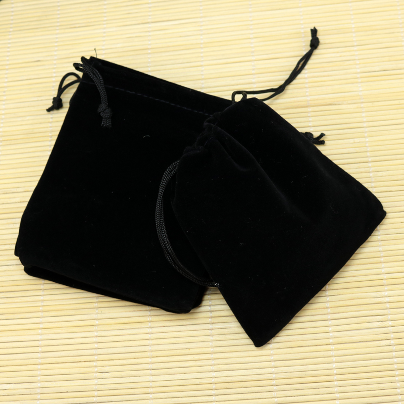 Customized Logo Wholesale 50pcs/lot 10x12cm Black Velvet Drawstring Bag Gift Packaging Bags For Packing Small Jewelry Pouches