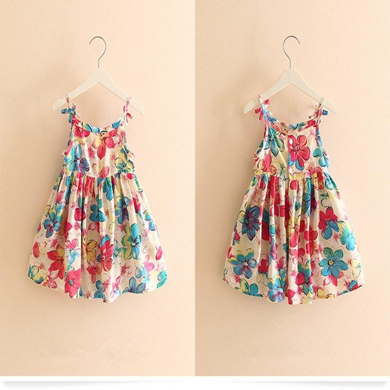 Girls Summer Dress kids sleeveless Clothing Children's Infant Party Dress Girls Cotton Kids sweet Dresses Children Clothes B22