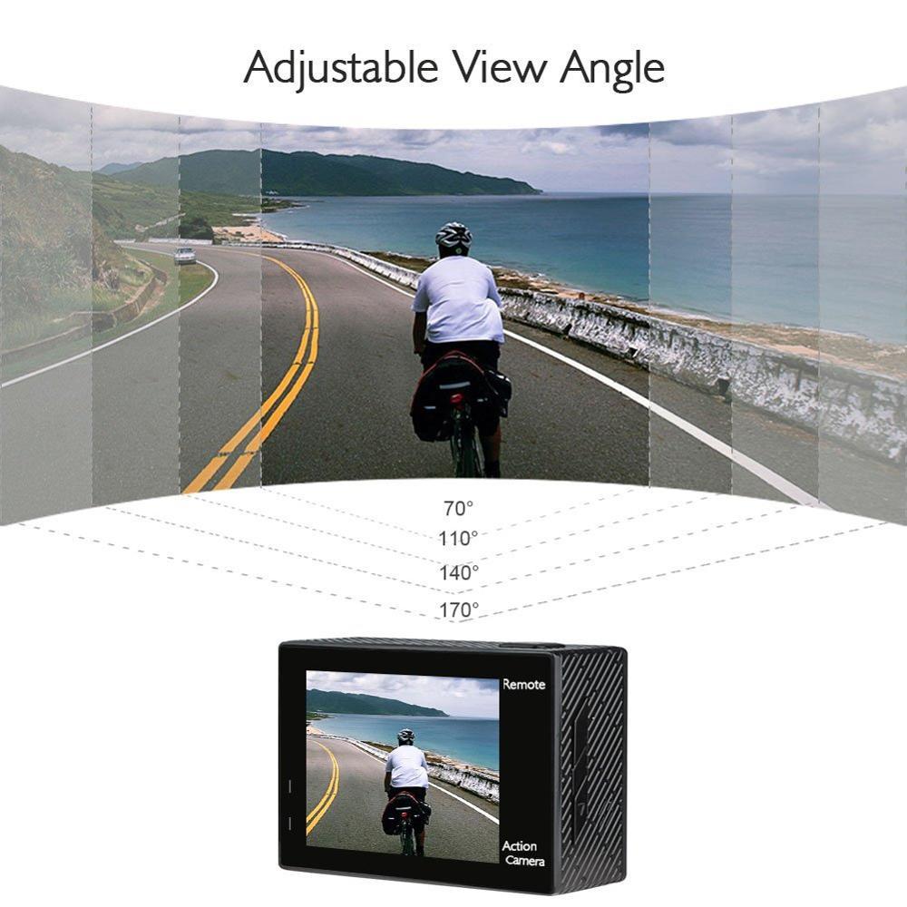 AKASO Mutig 4 Action Kamera 4 K/24fps Ultra HD 20MP Wifi anti schütteln 30m Unterwasser Wasserdicht fernbedienung Helm Sport cam - 5
