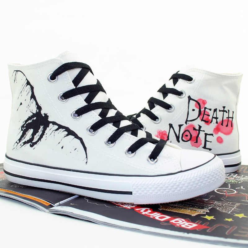L הערה מות גבוהה ש לשני המינים אנימה Cos נעליים עם סוליות נעלי חבל נעלי ספורט בד תלמיד מזדמן