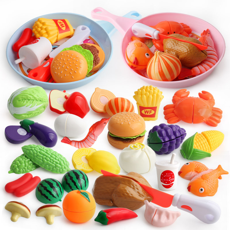 Children's House Simulation Fruit And Vegetable Pizza Chopped Kitchen Kitchen House Burger Fruit And Vegetables