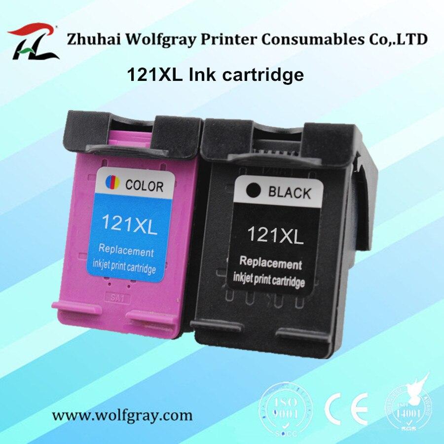 YI LE CAI Compatibile 121XL Cartuccia di Inchiostro 121 per hp Deskjet D2563 F4283 F2483 F2493 F4213 F4275 F4283 F4583 stampante per hp 121