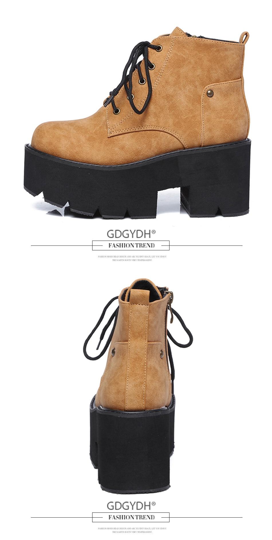 ladies boots platform