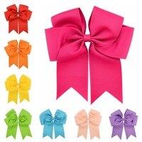 20 Pçs/lote Grande Fita de Gorgorão Arcos Com Clip Boutique Arco Acessórios Menina Pinwheel Elogio Bow Headband Menina Acessórios Para o Cabelo