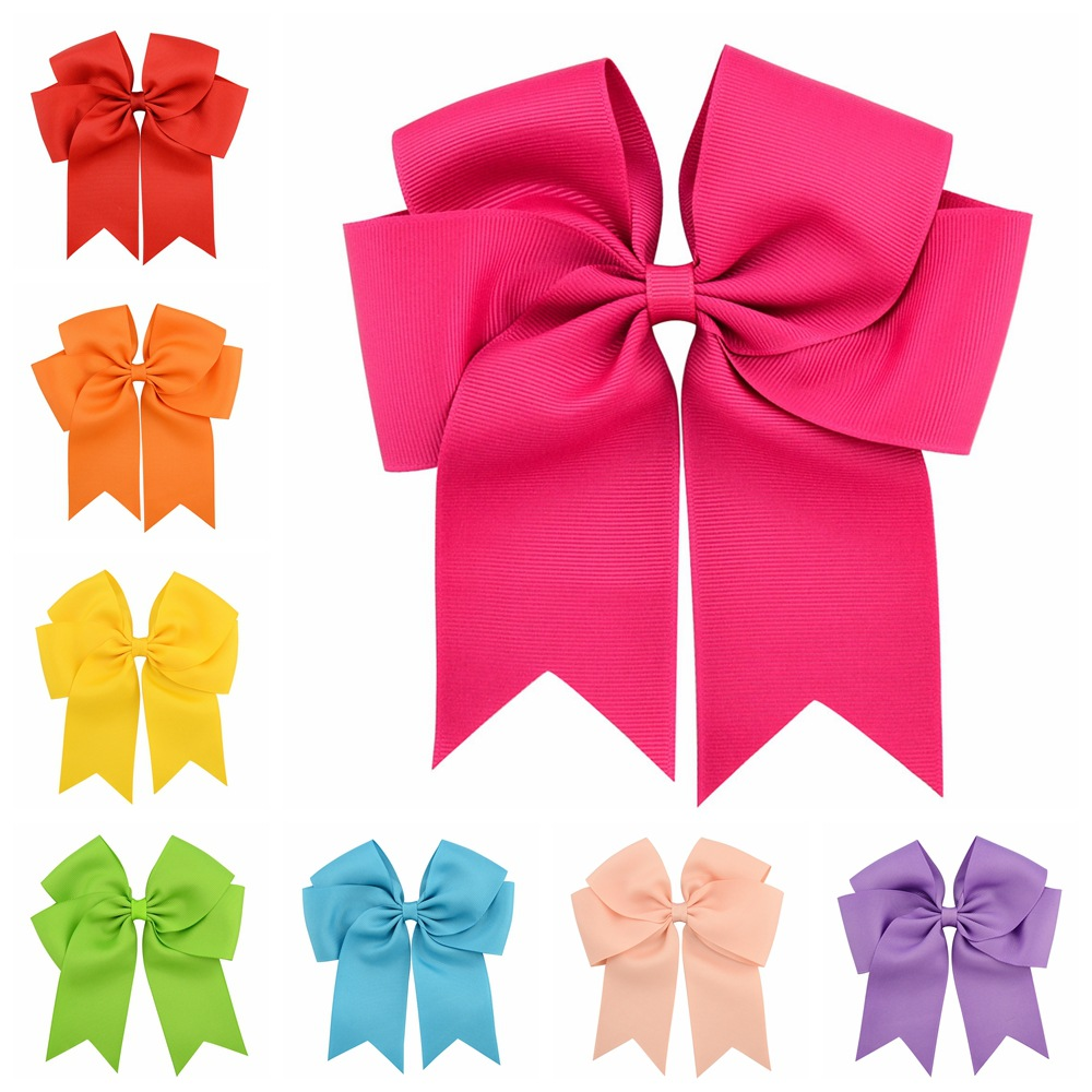 20PCS/Lot Large Grosgrain Ribbon Bows With Clip Boutique Bow Accessories Girl Pinwheel Cheer Bow Girl Headband Hair Accessories 2542 3 5 inch grosgrain ribbon hair bow diy children hair accessories baby hairbow girl hair bows without clip 16pcs lot