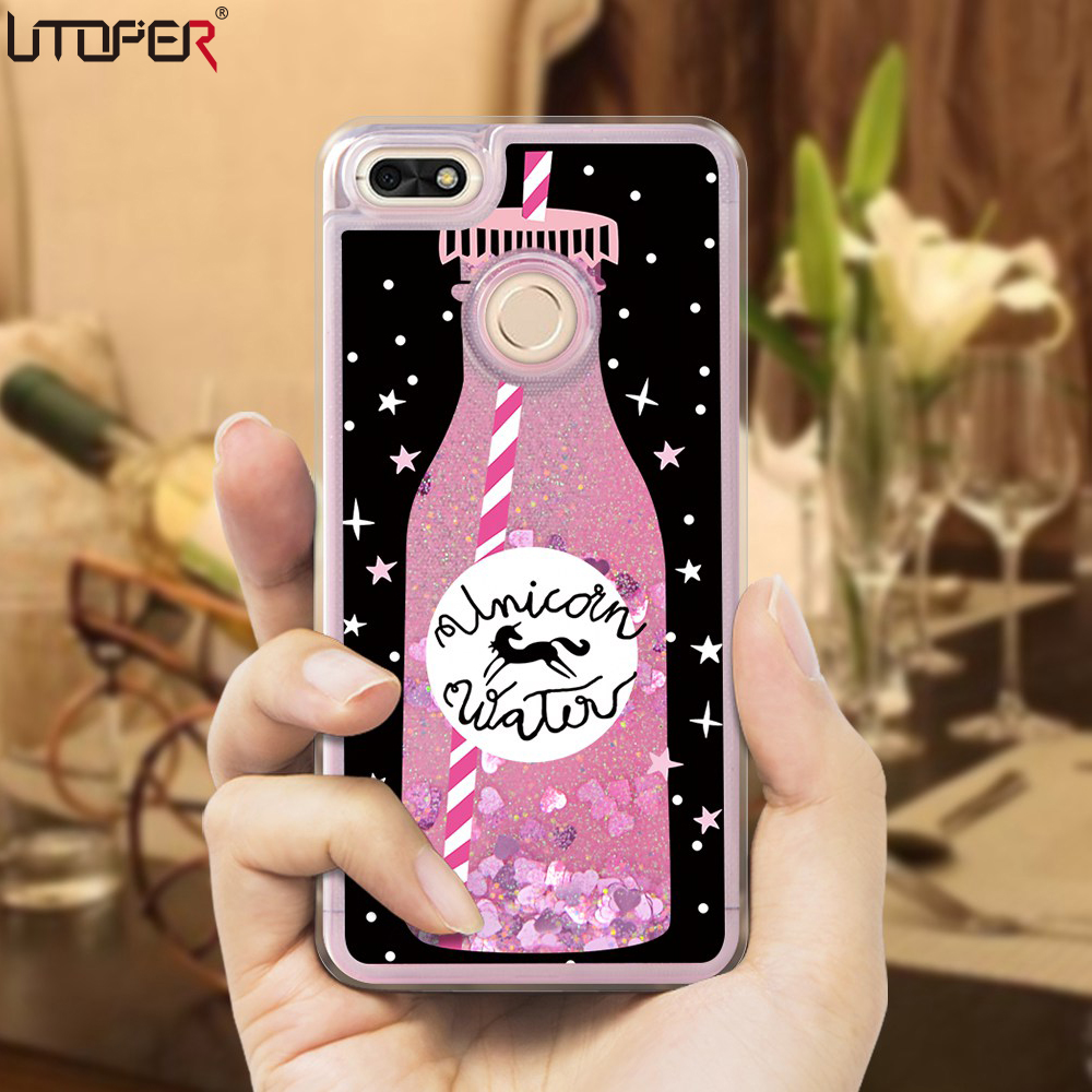 utoper luxury liquid case for huawei y6 pro 2017 case for huawei p9 lite min coque glitter. Black Bedroom Furniture Sets. Home Design Ideas