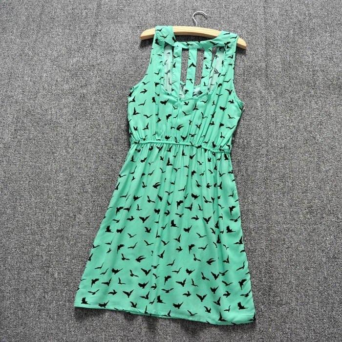 Groene zomerjurk