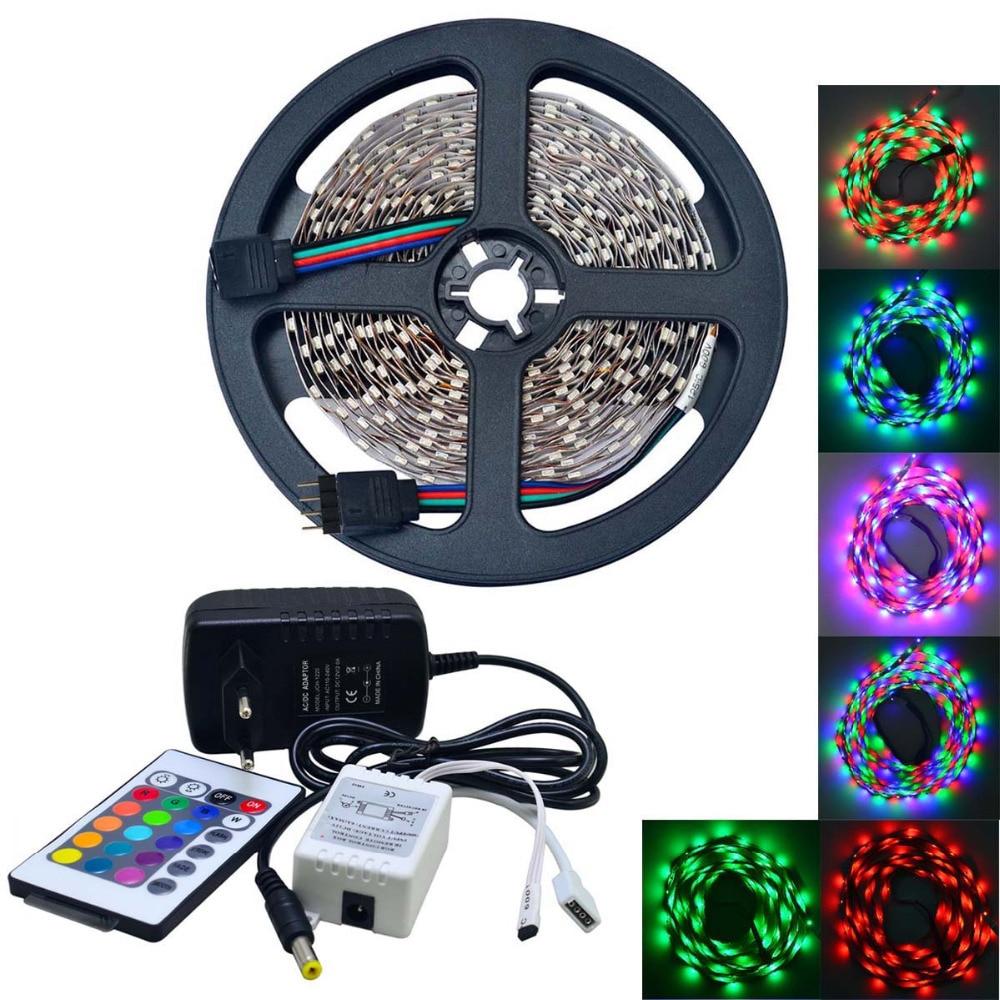 500cm 25W 300-3528 SMD RGB LED páskové světlo s dálkovým - LED Osvětlení