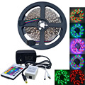 500cm 25W 300-3528 SMD RGB LED Strip Light w/ Remote Controller (AC110-240V / EU Plug)