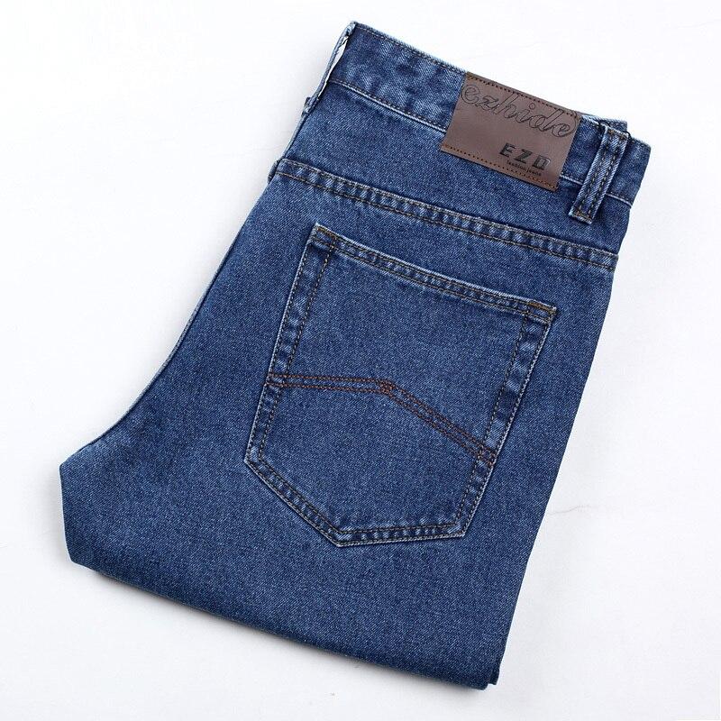 Мужские джинсы с высокой талией пятидесяти лет осенние и зимние прямые свободные брюки, 3XL, 4XL, 5XL,