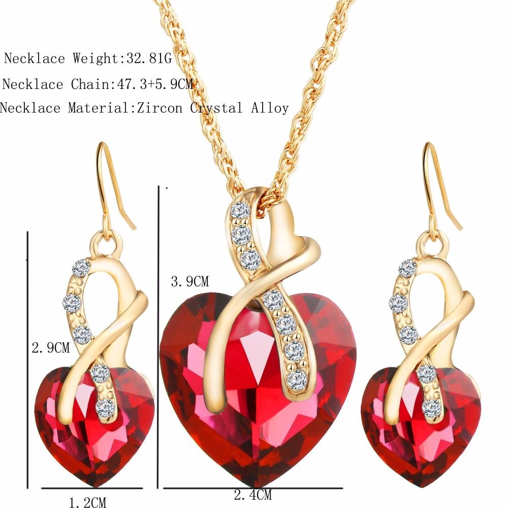 17KM-New-Fashion-Gold-Plated-Crystal-Choker-Jewelry-Statement-Necklace-Maxi-Women-Love-Wedding-Pendants-Set