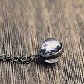 12 pcs Lua colar, minúsculo colar de lua, 2 lados da lua colar cabochon vidro, declaração de jóias, mulheres da moda colar