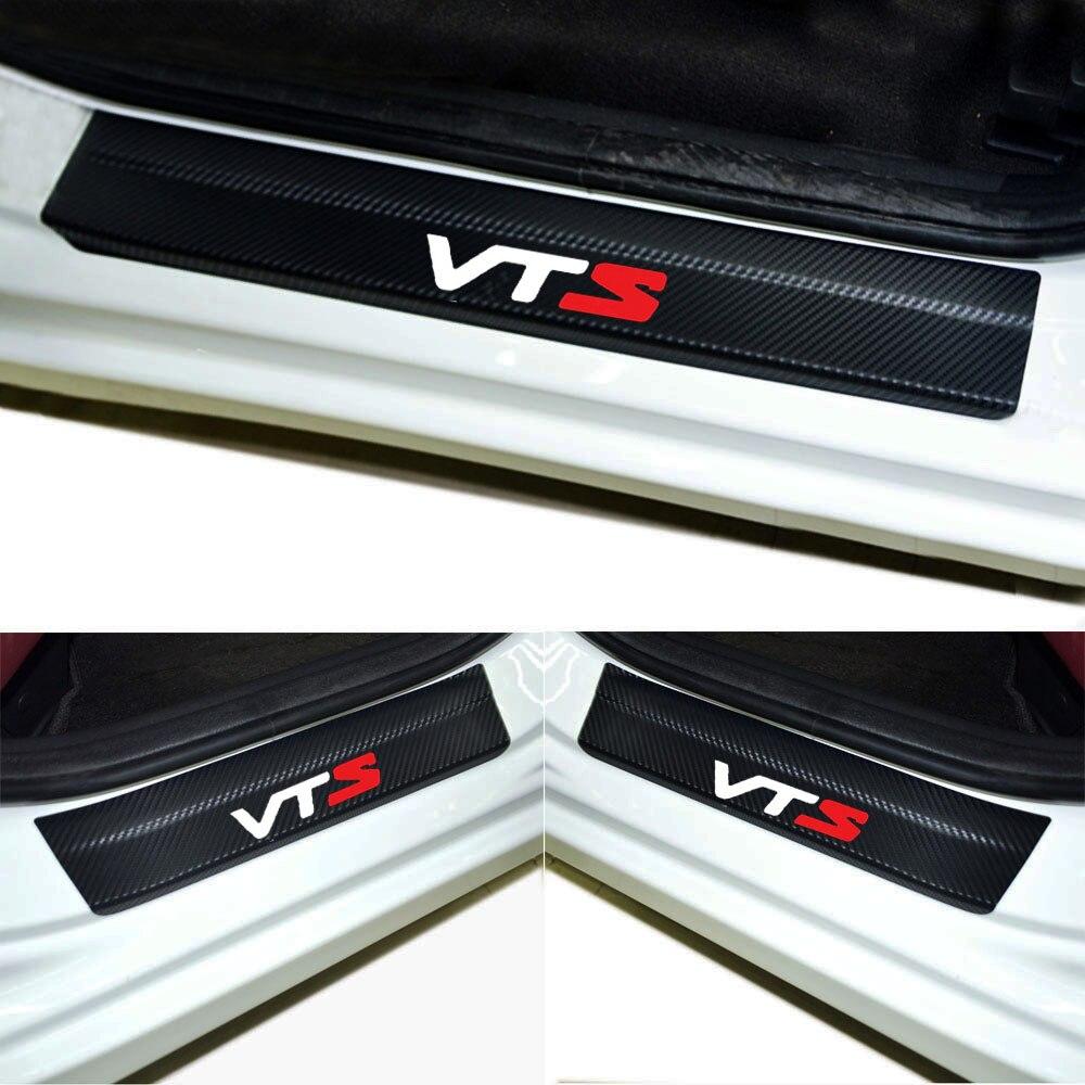 4pcs Door Stickers Carbon Fiber Car Scuff Plate sticker VTS Vinyl sticker Sport Racing For Citroen C4 C3 C5 C6 C8 XSARA Picasso atreus 2x led courtesy lamp car door welcome light projector shadow styling for citroen c3 c4 c5 picasso saxo xsara accessories