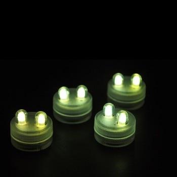 Super Bright 2LED Submersible Light 3cm Mini Waterproof LED Tea Light Candle 11 colors.