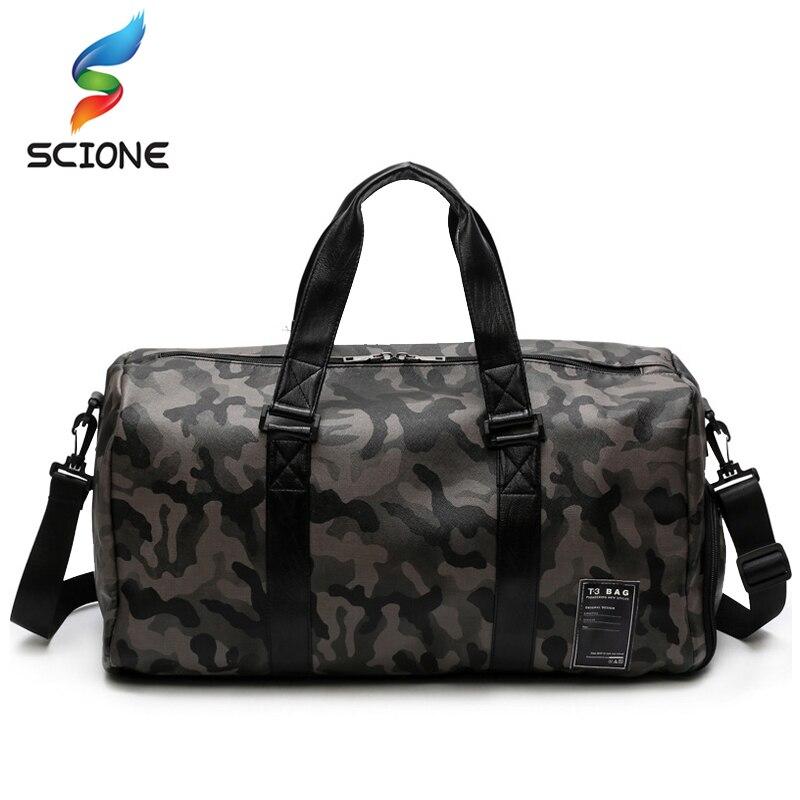 Hot PU Sports Training Gym Bags Women Waterproof Tote Fitness Yoga Handbags Shoulder Crossbody Bags Travel Duffle Boarding Bag