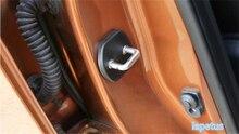 Для Renault Koleos 2017 2018 kadjar 2016 2017 2018 Пластик Накладки для салона автомобиля Внутренний замок двери защитная крышка отделкой 4 шт.