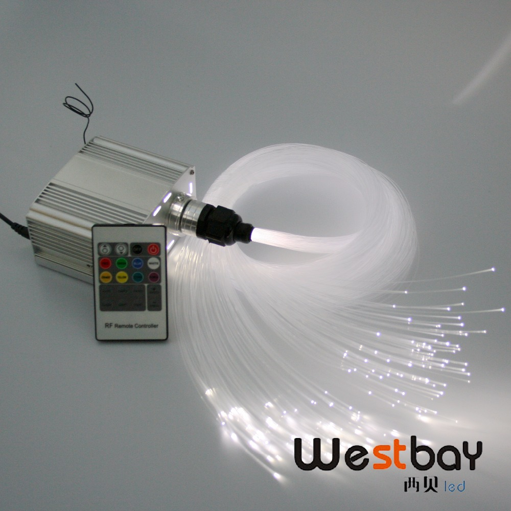 купить DHL free shipping RF 7W Led Fiber Light engine with 150pcs 0.75mm 2meters fiber, RGB twinkle star effects онлайн
