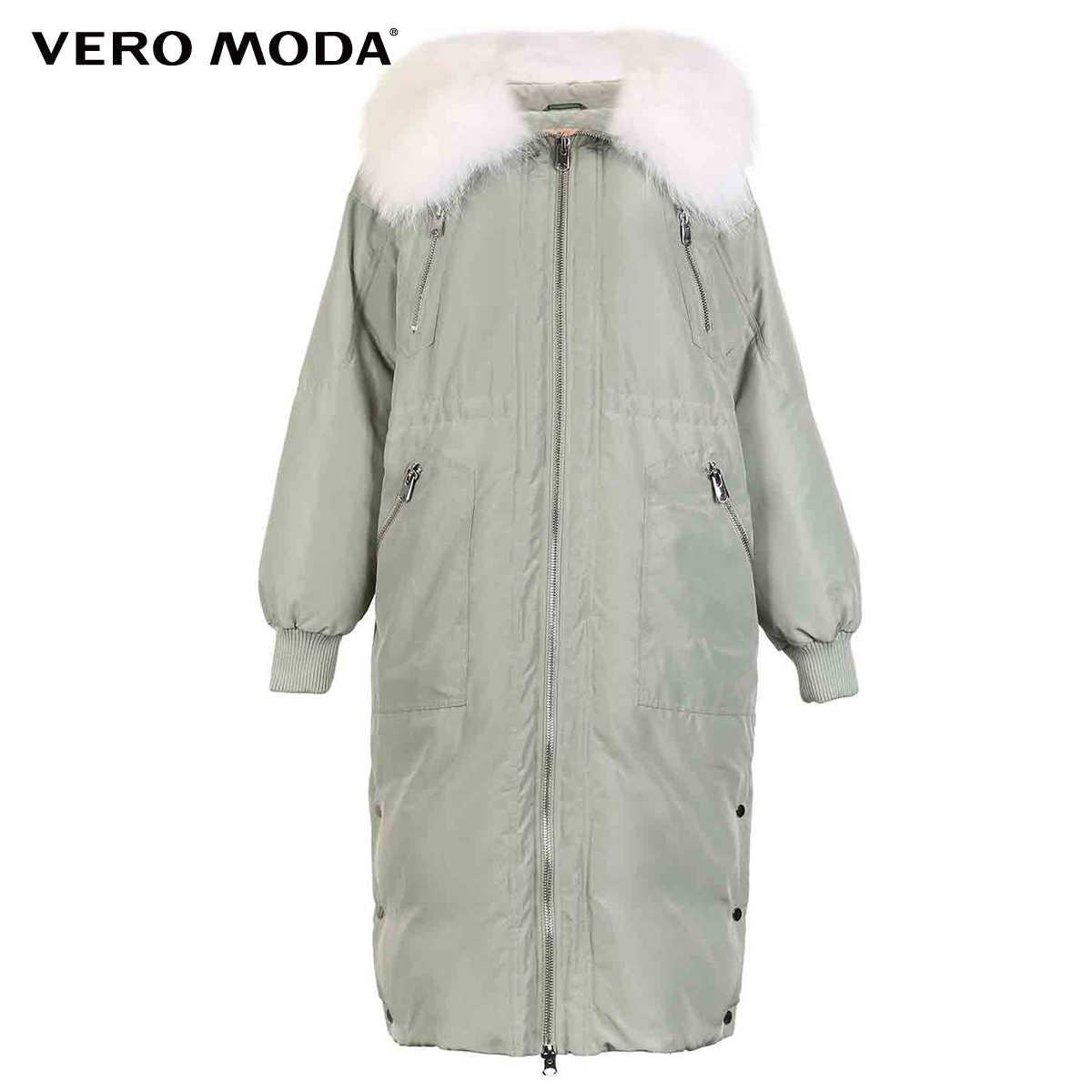 Vero Moda nowy kołnierz z futra szopa 80% biała kurtka puchowa | 318412505