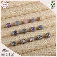 DIY High Quality New Collection Fashion Shinning CZ Paving 925 Real Silver Small Hole Charm Fitting for Essence Charm Bracelet