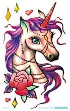 MC698 19X12cm HD Large Tattoo Sticker Body Art War Horse Temporary Tattoo Terrorist Stickers Flash Taty Tatoo