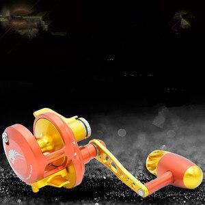 Image 3 - WOEN CNC bánh xe hợp kim nhôm cơ thể Heavyweight Trolling Trống bánh xe 11BB Chậm lắc sắt tấm Cá bánh xe Tốc Độ tỷ lệ: 6.3: 1