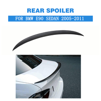 For E90 M3 Rear Spoiler Trunk Boot Trim Sticker Wing for BMW 3 Series 323i 325i 328i 335i 335i Sedan 2005 2011 FRP Unpainted