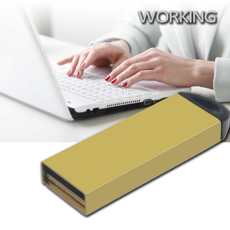 Metalowa pamięć USB flash 8 GB 16 GB 32 GB 64 GB przenośny Pen Drive Personalizado złoty Pendrives wysokiej prędkości pamięci pamięć USB