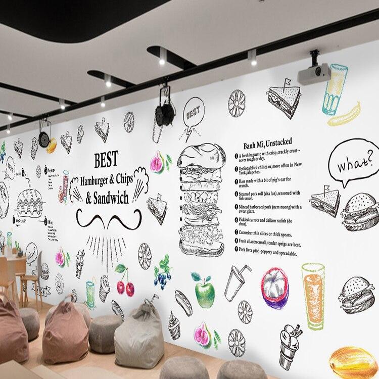 где купить 3D photo wallpaper 3D stereo custom personality wallpaper mural bread cake shop tea store snack restaurant wallpaper по лучшей цене