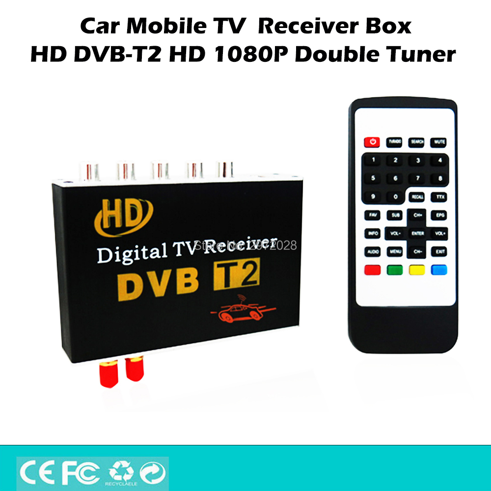 HD 1080P HDMI CVBS Mobile Digital TV Receiver Mobile Car DVB T2 MPEG4 MPEG2 Digital TV