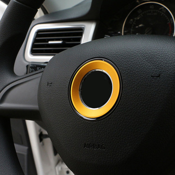 Foal burning Car Steering Wheel Protection Circle Decoration Trim Sticker for Golf 6 7 image