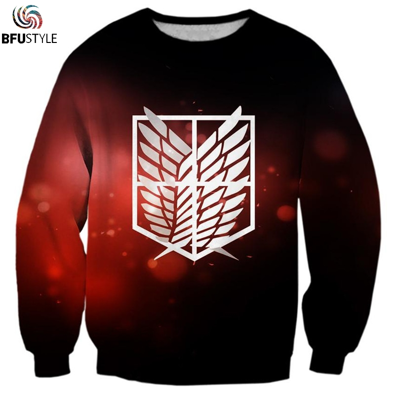 Attack On Titan Printed Mens Hoodies Sweatshirts 3D Hooded Sweatshirts Male Clothing Fashion Autumn Winter Sweat Homme Dropship