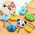 Kawaii Novelty Items Anime Silicone Key Cover For Women Cute Key Caps Key Rings Key Holder Keychain Key Chain