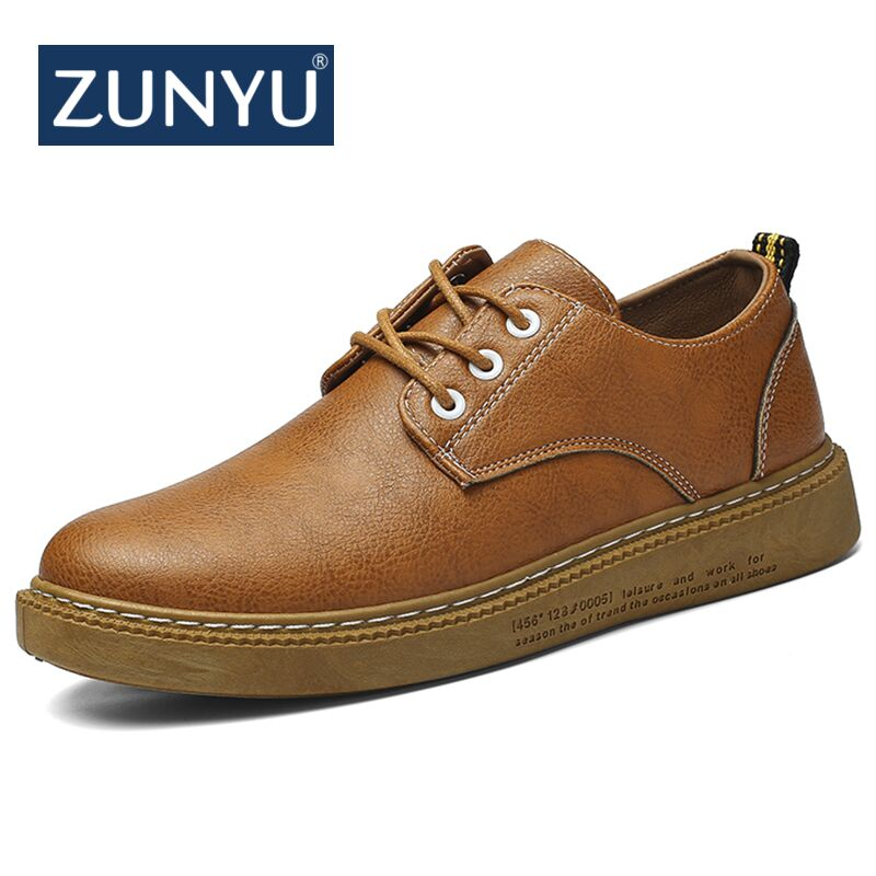 цены ZUNYU 2018 New Casual Men Loafers Spring and Autumn Mens Slip on Soft Leather Moccasins Shoes PU Leather Men's Flats Shoes