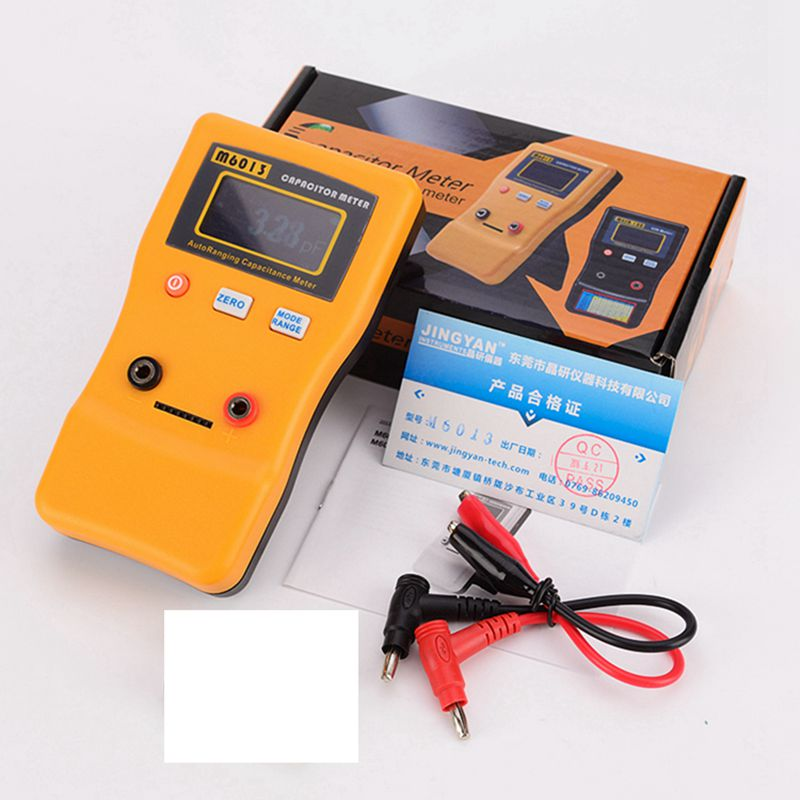 Digital Auto Ranging Capacitance Meter 0.01pF to 470000uF Electronic Capacitor Tester With Pair Test Probe