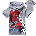 2017 summer spiderman boys clothing set kids short sleeve tops tees t shirt