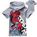 2017 verano spiderman muchachos que arropan el sistema kids camisetas de manga corta camisetas t shirt