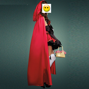 Image 2 - VASHEJIANG جودة عالية مثير ليتل الأحمر ركوب هود زي المرأة هالوين ازياء الأميرة فستان كرنفال تأثيري فستان بتصميم حالم